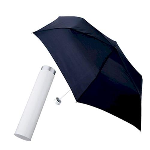 スリムボトルUV折りたたみ傘:ホワイト×ネイビー