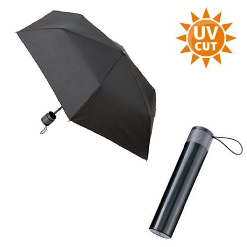 ボトルケースUV折りたたみ傘:ブラック×ブラック