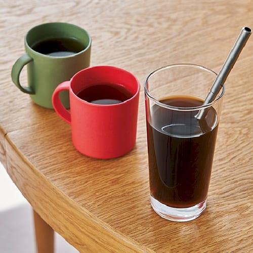 バンブーマグカップ:レッドの商品画像2枚目