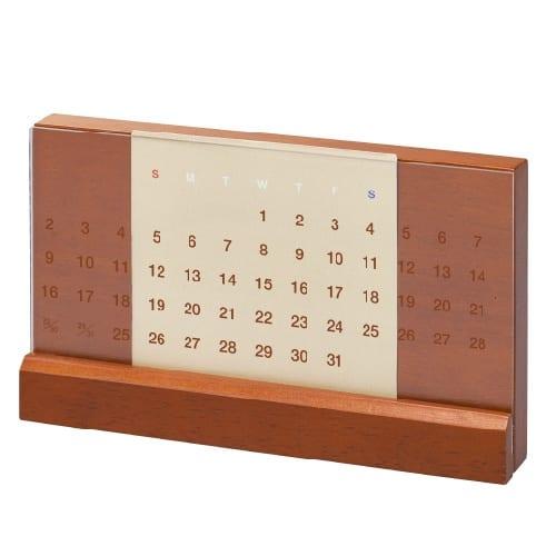 ラバーウッド万年カレンダー:ダークウッド
