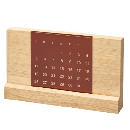 ラバーウッド万年カレンダー:ナチュラルウッド