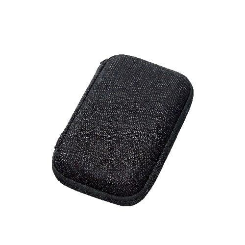 テキスタイルモバイルアクセサリーケース(M):ブラック