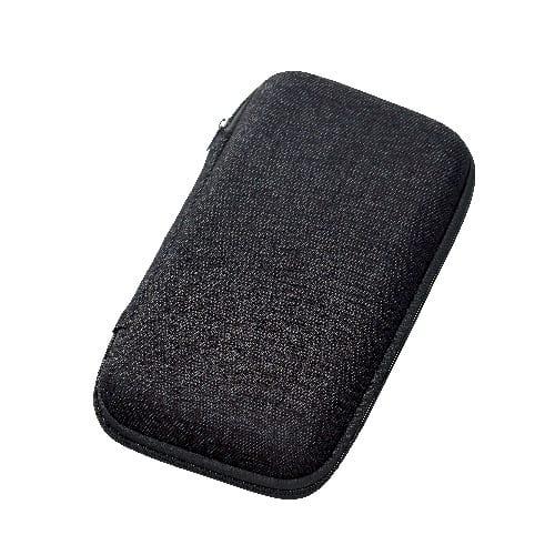 テキスタイルモバイルアクセサリーケース(L):ブラック