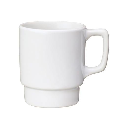 陶器マグ スタッキング:ホワイト