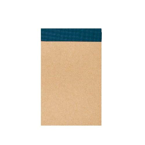 リサイクルA7メモパッド:ブルー