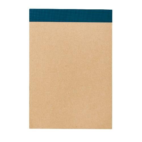リサイクルA6メモパッド:ブルー