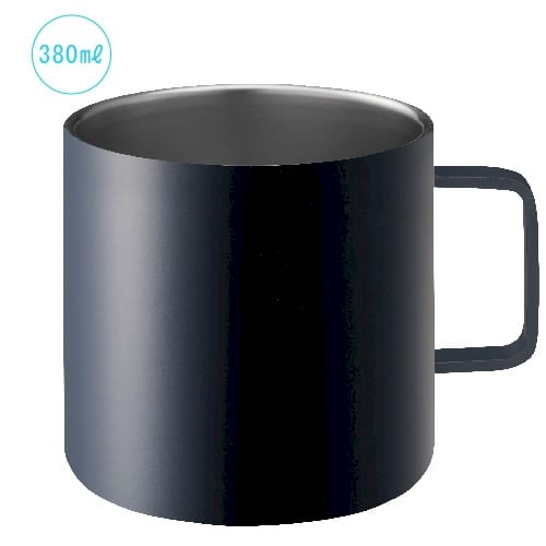 サーモステンレスマグ 380ml:ブラック