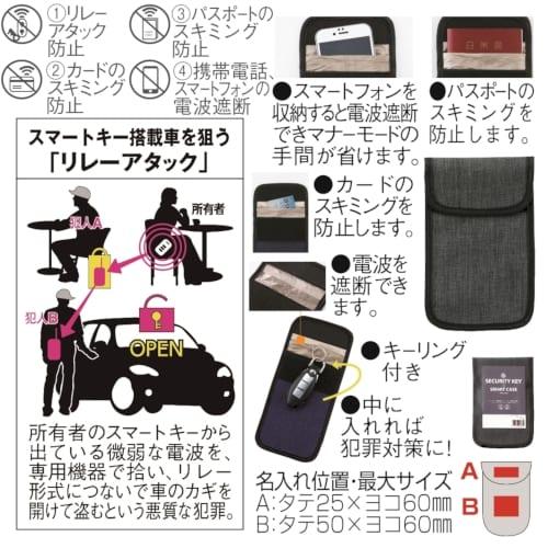 セキュリティ・キー&スマートケース(ダークグレー)【名入れ短納期可能】