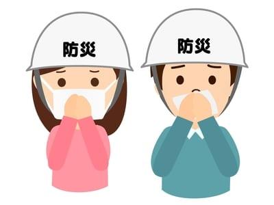 ヘルメットやマスク着用