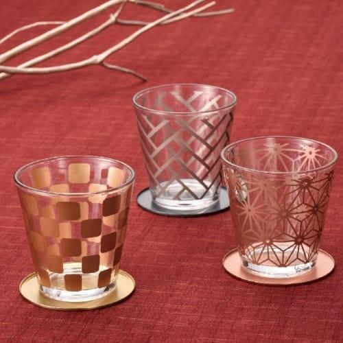 金銀銅 伝統和柄グラス三客揃えの商品画像2枚目