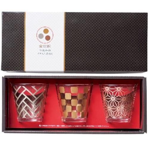 金銀銅 伝統和柄グラス三客揃えの商品画像3枚目