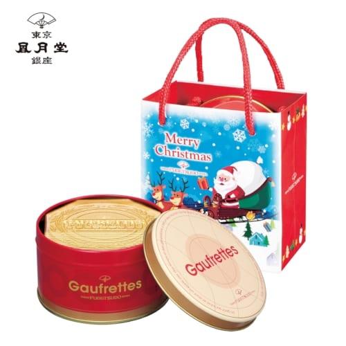 東京風月堂クリスマス袋付ゴーフレットミニ缶(6枚入)