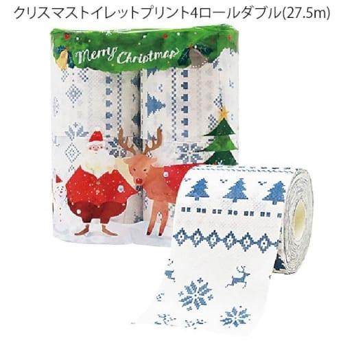 クリスマストイレットプリント4ロールダブル(27.5m)