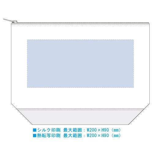 ライトキャンバスカラーボトムデイリーポーチ(M):チャコールグレー※の商品画像3枚目