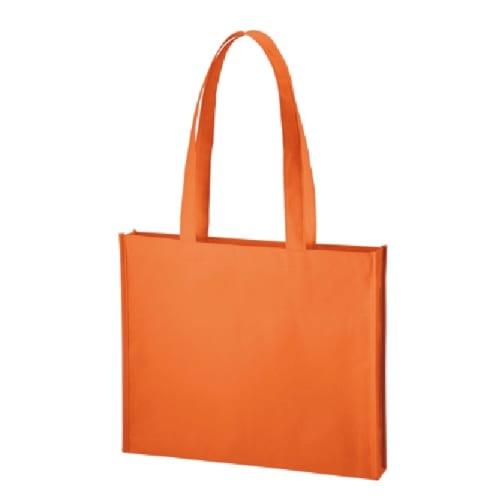 不織布A4ワイドスクエアトート:オレンジ