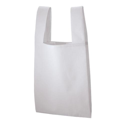 不織布レジバッグ:ナチュラルホワイト