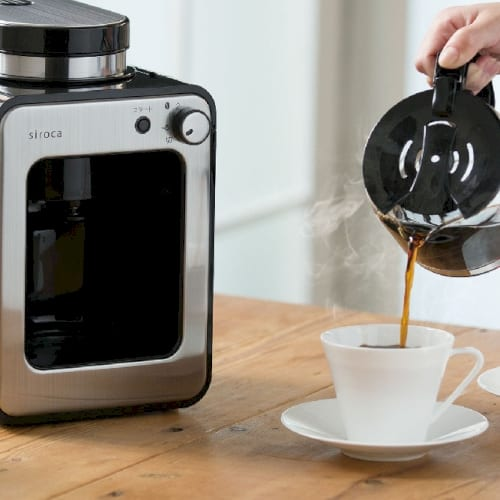 siroca 全自動コーヒーメーカー(ガラスサーバー)の商品画像2枚目