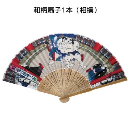 和柄扇子1本(相撲)◆【浮世絵扇子】