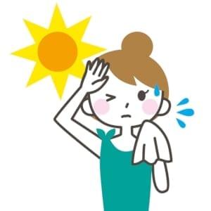 汗をかいている人の画像