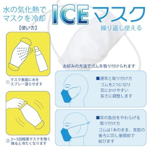 ICEマスク(アイスマスク)【洗える夏マスク、エチケット・感染症対策】の商品画像2枚目
