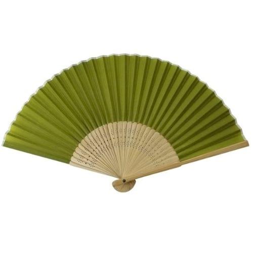 すす竹扇子 うぐいす