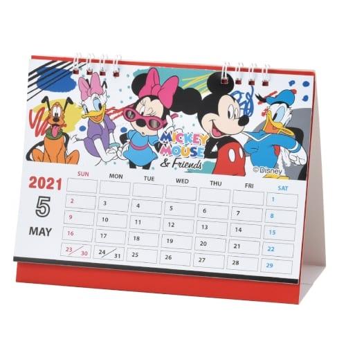 キャラクター卓上カレンダー2021 ミッキーフレンズ
