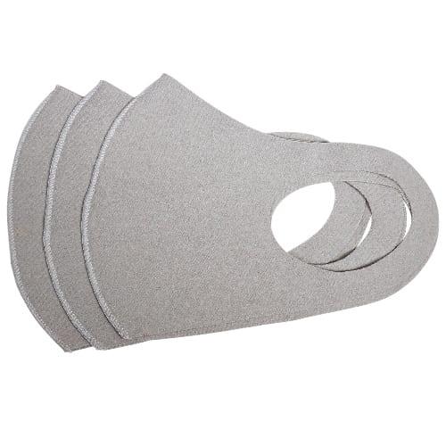 あったかフリースマスク3枚入 グレー【エチケット・感染症対策】の商品画像2枚目