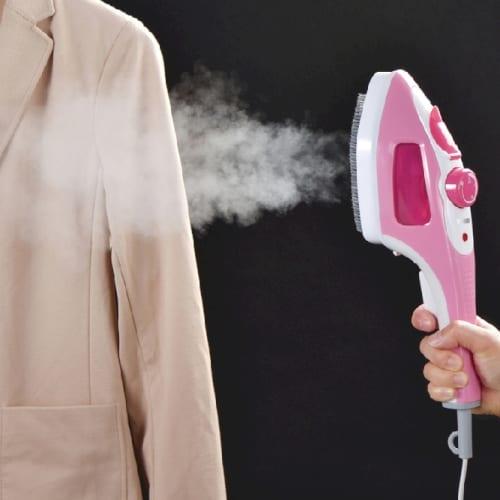 ハンディーアイロン&スチーマー1台(ピンク)の商品画像2枚目