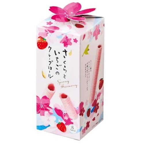 さくらといちごのクレープロール【お花見・さくら・桜の季節】の商品画像3枚目