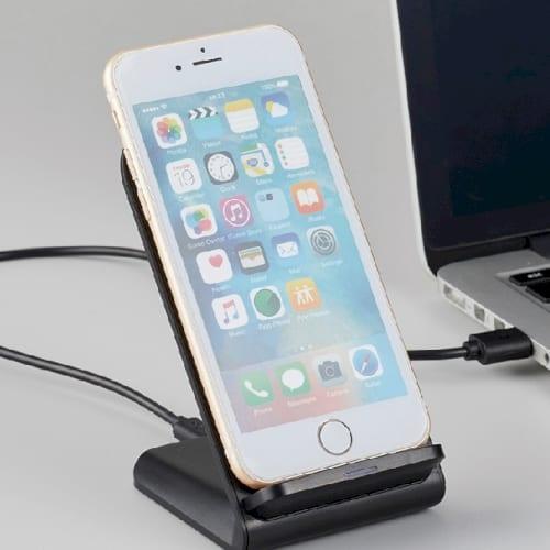 スタンドワイヤレス充電器 5W:ブラックの商品画像2枚目
