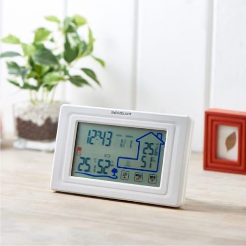 ワイヤレス室外温湿度計付クロックの商品画像2枚目
