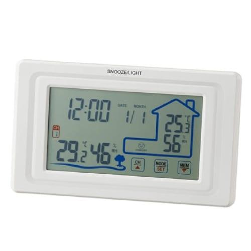 ワイヤレス室外温湿度計付クロックの商品画像4枚目