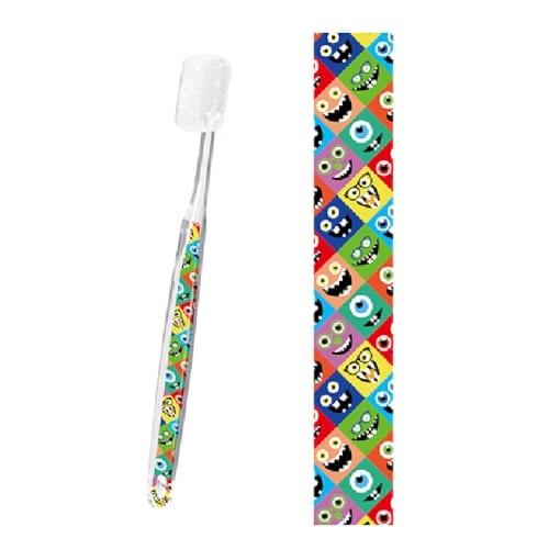 【別注】デザイン歯ブラシ(大人用)(クリア) 【フルカラーオリジナル歯ブラシ】の商品画像2枚目