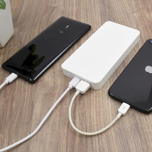 急速充電PSEバッテリーチャージャー10,000mAh(白) 【モバイルバッテリー】の商品画像2枚目