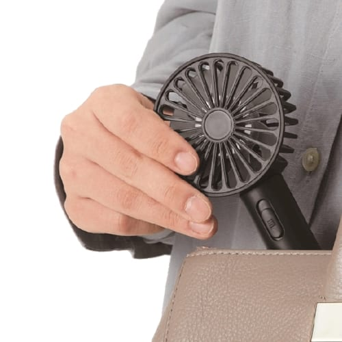 USB充電式2WAYコンパクトファン(ネックストラップ付き)◆ 【ミニ扇風機】の商品画像2枚目