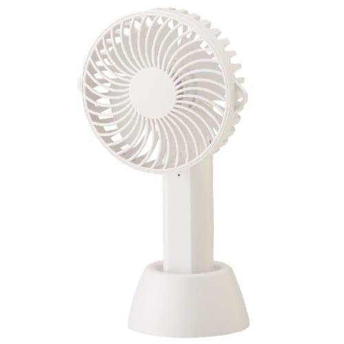 2WAY可動式ハンディファン(ネックストラップ付き)(ホワイト)◆ 【ミニ扇風機】の商品画像3枚目